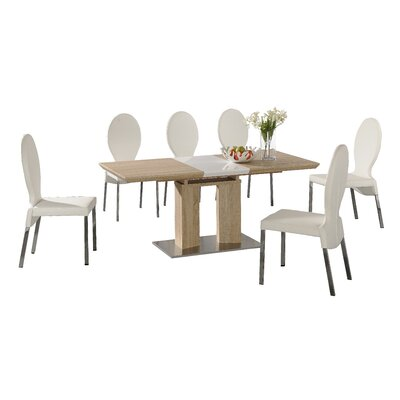 Homestead Living Nathan Extendable Dining Table and 7 Chairs