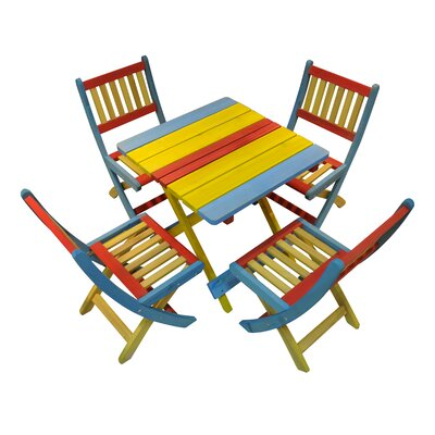 Homestead Living Rainbow Children's 4 Piece Table and Chair Set
