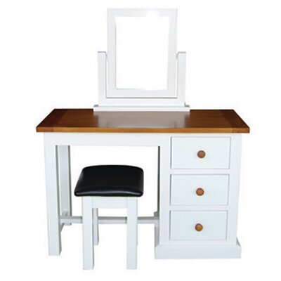 Homestead Living Cherbourg 3 Drawer Dressing Table Set with Mirror