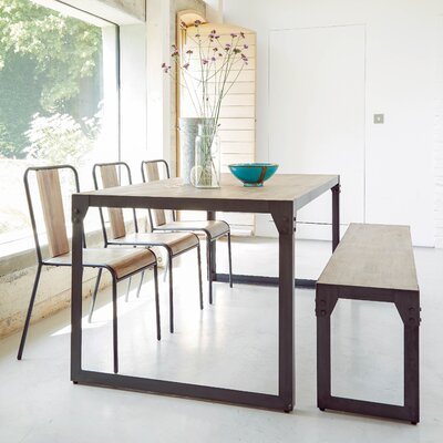 Homestead Living Turner Dining Table and 3 Chairs and Bench