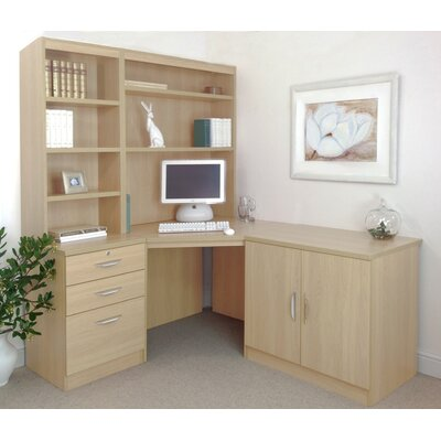 Homestead Living Walshaw Computer Desk with Hutch Bookcase