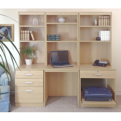 Homestead Living Walshaw Computer Desk With Shelf Hutch Bookcase