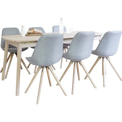 Homestead Living Frances Extendable Dining Table and 6 Chairs