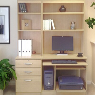 Homestead Living Walshaw Computer Desk with Hutch Book Shelf