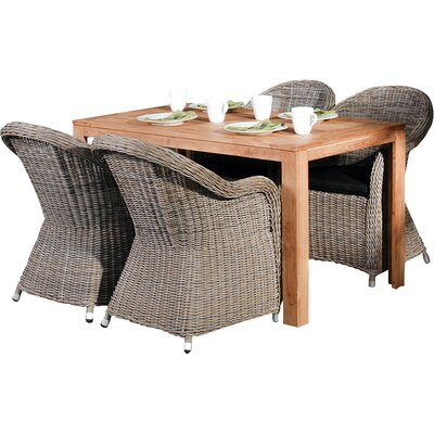Homestead Living Windsor 4 Seater Dining Set with Cushions