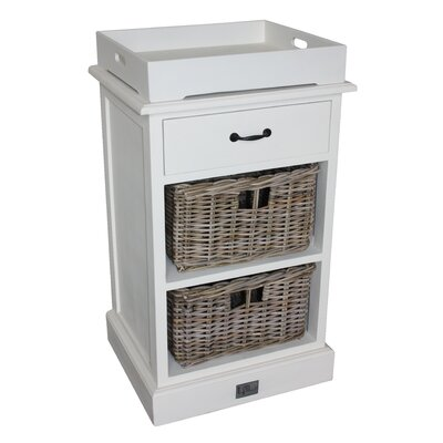 Homestead Living 1 Drawer and 2 Basket Dresser with Excluded Tray