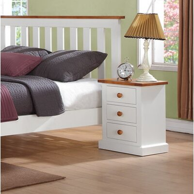 Homestead Living Cherbourg 3 Drawer Bedside Table