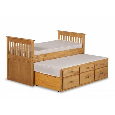 Homestead Living Single Slat Bed with Trundle & Storage