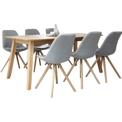 Homestead Living Frances Dining Table and 6 Chairs