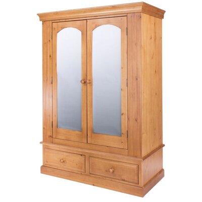 Homestead Living Charlie 2 Door Mirrored Wardrobe