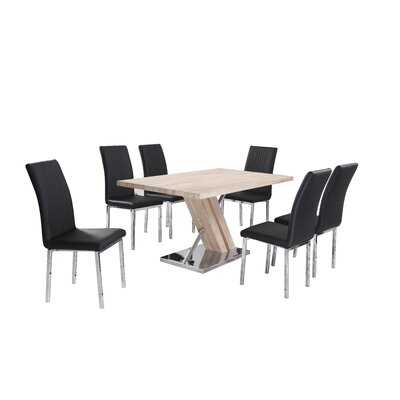 Homestead Living Thea Dining Table and 6 Chairs