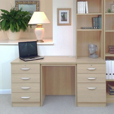 Homestead Living Walshaw Computer Desk with Hutch Shelves