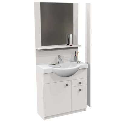 Homestead Living Loula 30 x 188cm Free Standing Tall Bathroom Cabinet