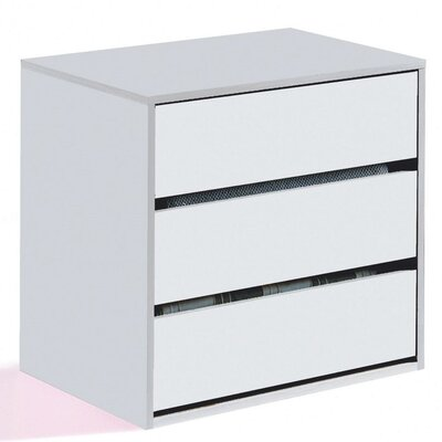 Home Etc 3 Drawer Chest of Drawers