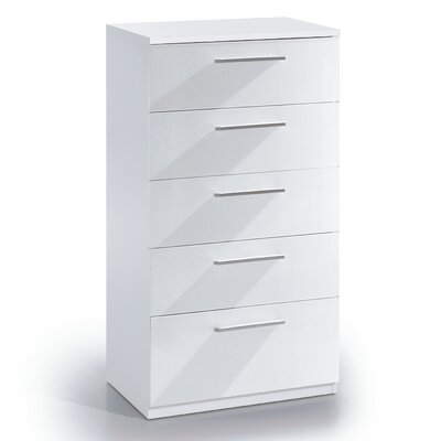 Home Etc Cepheus 5 Drawer Chest of Drawers
