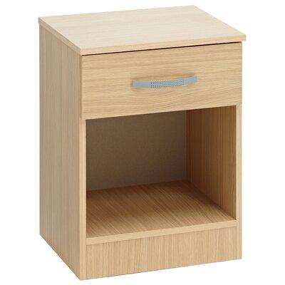 Home Etc Gaviotat 1 Drawer Bedside Table