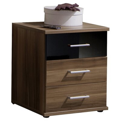 Home Etc Grus 3 Drawer Bedside Table