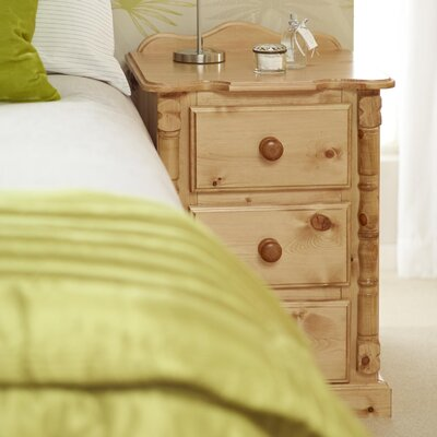 Home Etc Ecuestre 3 Drawer Bedside Table