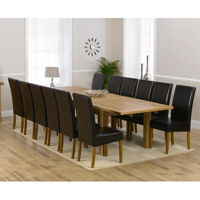 Home Etc Ritual Extendable Dining Table and 12 Chairs