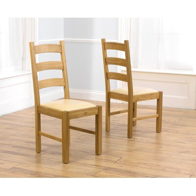 Home Etc Valencia Solid Oak Upholstered Dining Chair