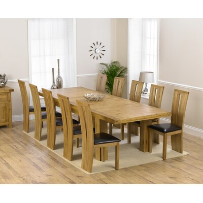 Home Etc Patricia Extendable Dining Table and 10 Chairs