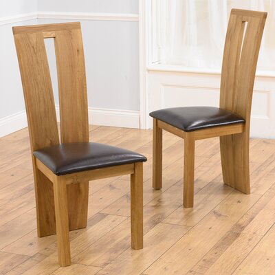 Home Etc Wilmington Solid Oak Upholstered Dining Chair