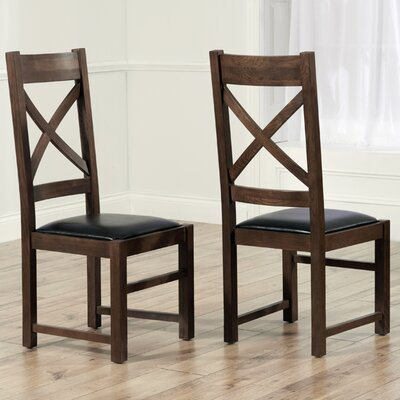 Home Etc Spalding Solid Oak Upholstered Dining Chair