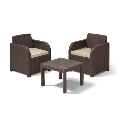 Home Etc Ricella 2 Seater Bistro Set with Cushions