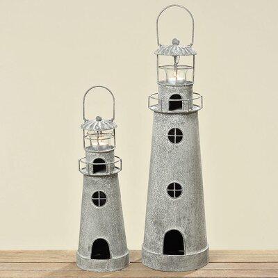 Home Etc 2-Piece Lighthouse Hurricane Set