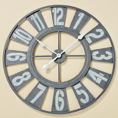 Home Etc Lanze Oversized 73cm Analogue Wall Clock