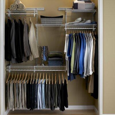 Home Etc 30cm Deep Adjustable Closet Organiser Kit