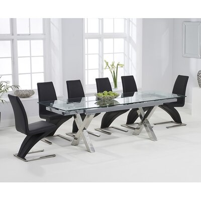 Home Etc Clemsford Extendable Dining Table and 6 Chairs