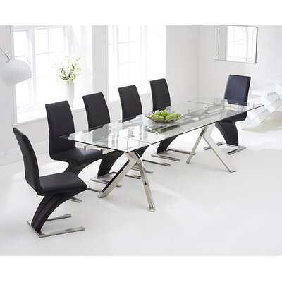 Home Etc Piazz Extendable Dining Table and 6 Chairs