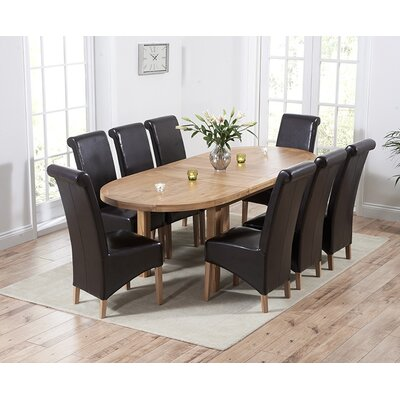 Home Etc Chantal Extendable Dining Table and 8 Chairs