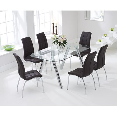 Home Etc Panther Dining Table and 6 Chairs
