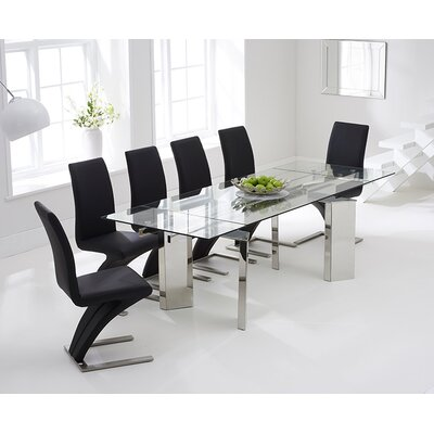 Home Etc Aurora Extendable Dining Table and 6 Chairs