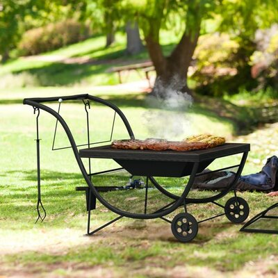 Home Etc Bugio Steel Charcoal Fire Pit