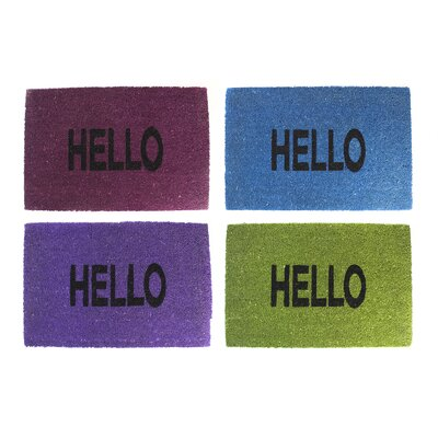 Home Etc 4 Piece Hello Doormat Set