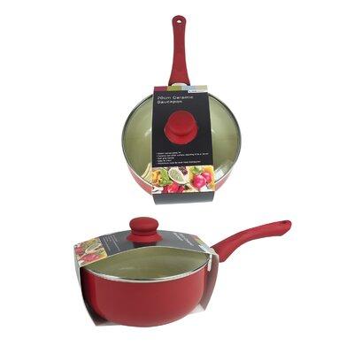 Home Etc Non Stick Ceramic Sauce Pan with Lid