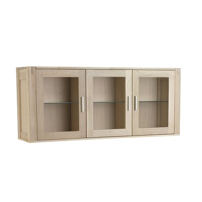 Home Etc Channa Solid Oak Wall Mounted Display Cabinet