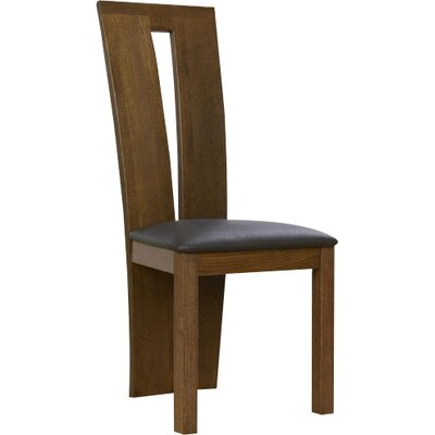 Home Etc Arizona Solid Oak Upholstered Dining Chair