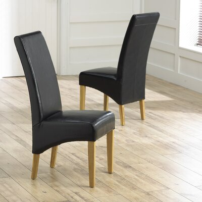 Home Etc Roma Solid Oak Upholstered Dining Chair