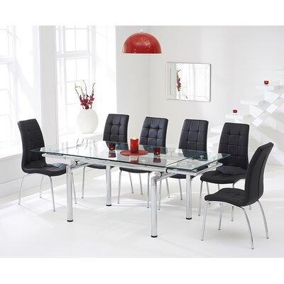 Home Etc Diego Extendable Dining Table and 6 Chairs