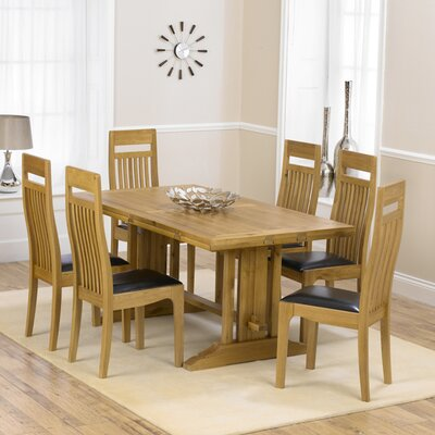 Home Etc Spencer Extendable Dining Table and 6 Chairs