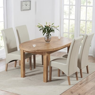 Home Etc Chantal Extendable Dining Table and 4 Chairs