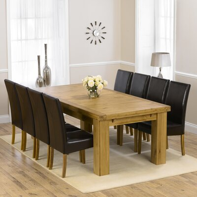 Home Etc Patricia Extendable Dining Table and 8 Chairs