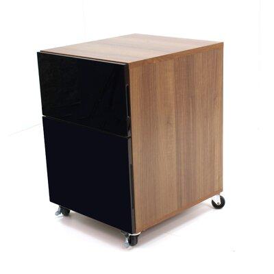 Home Etc Abbot Designer 2-Drawer Mobile Vertical Filing Cabinet