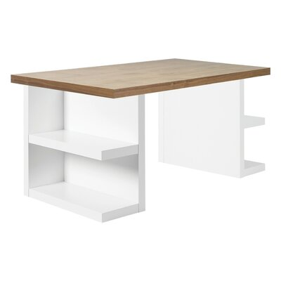Home Etc Benjamin Writing Desk with Bookcase