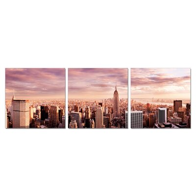 Home Etc YoungOnes NewYork Skyline 3 Piece Photographic Print Set