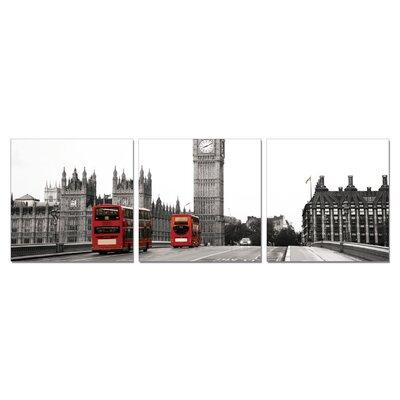 Home Etc YoungOnes London Big Ben 3 Piece Photographic Print Set